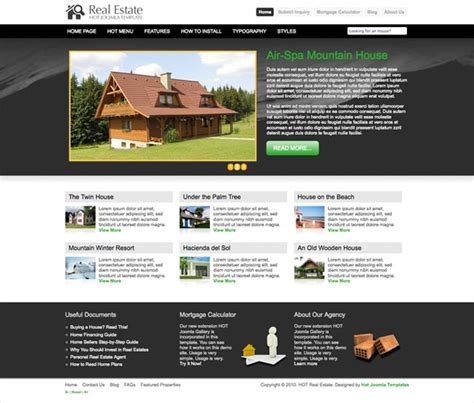 template joomla real estate free joomla real estate template hot real estate hotthemes