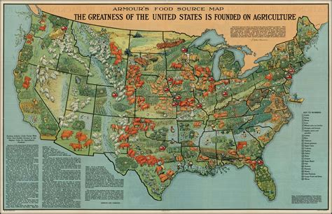 agricultural map of usa farming and food evolution in the us as explained in 40