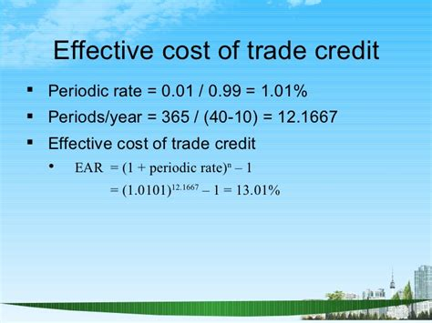 Cost Of Mba Per Credit by Working Capital Management Ppt Bec Doms Mba Finance