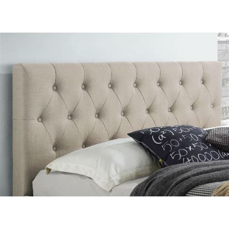 double fabric headboard polo double fabric upholstered bed head in beige buy