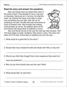 short story with comprehension questions 3rd grade