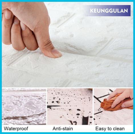 jual grosir wallpaper foam white brick  emboss bata alam