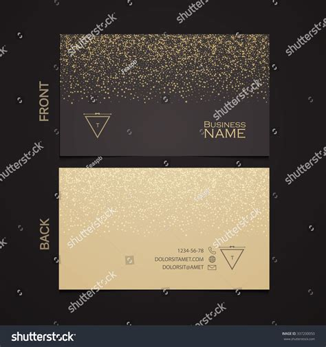 dust template template luxury business card gold stock vector