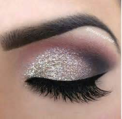 silver glitter smokey eyeshadow make up pinterest
