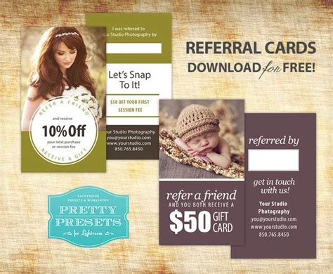free photography referral card templates 1000 ideas about photography business cards on
