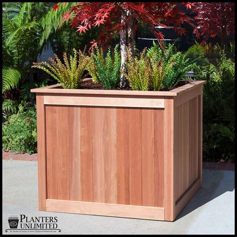 eureka redwood square planter