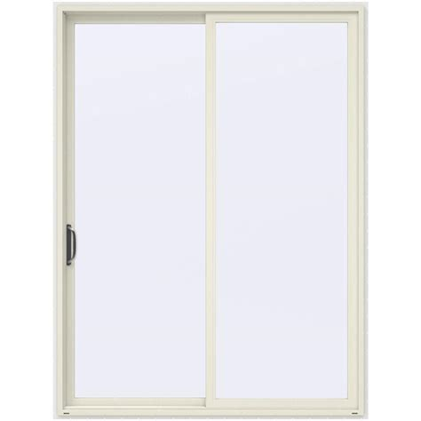96 Inch Sliding Patio Doors Jeld Wen 72 In X 96 In V 4500 Vanilla Prehung Left Sliding 1 Lite Vinyl Patio Door