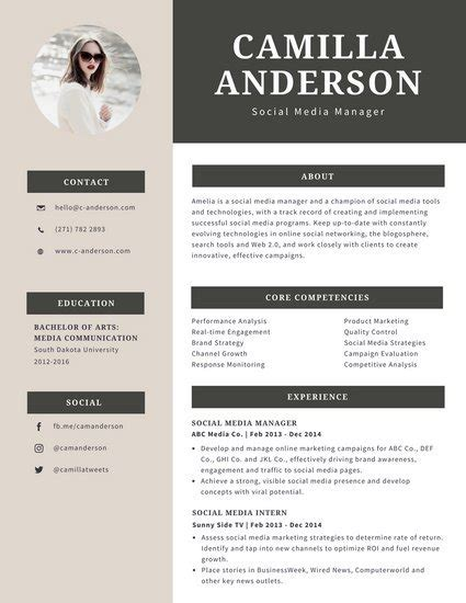 Canevas Cv by Customize 294 Professional Resume Templates Canva