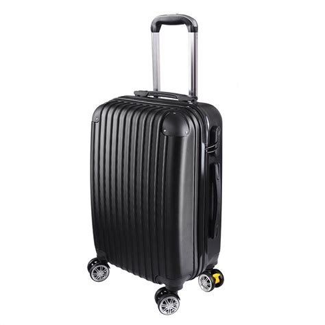 Shell Cabin Suitcase by 20 Quot Cabin Luggage Suitcase Shell 4 Wheeled Abs