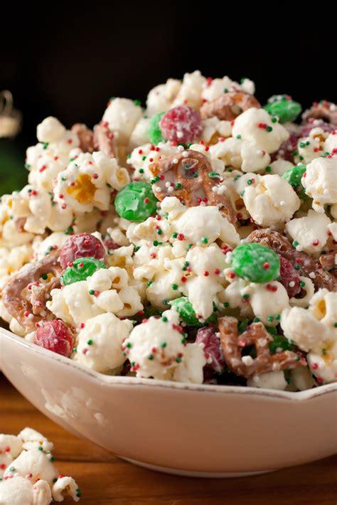 Holiday Popcorn Christmas Crunch Funfetti Popcorn Christmas Style Cooking Classy