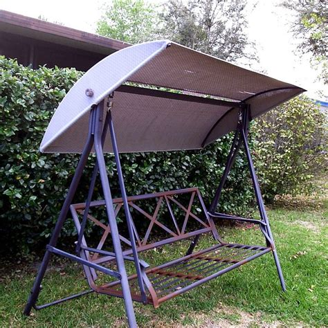 garden swing replacement canopy custom sewn lowes canopy replacement for metal backed