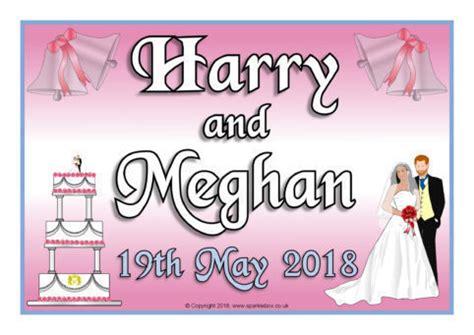 Wedding Banner Sparklebox royal wedding 2018 harry and meghan display posters