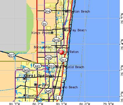 map of florida showing boca raton boca raton florida fl profile population maps real