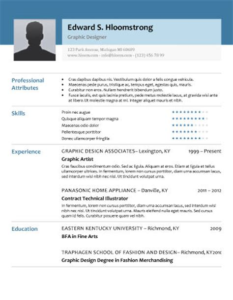 Does Word A Resume Template by Free Resume Templates For Word The Grid System