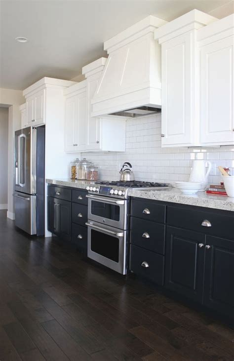 kitchen cabinets white top black bottom 21 ways to make a bold statement with black kitchen cabinets