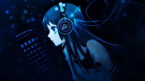 wallpaper girl with headphones anime girl headphones 717544 walldevil