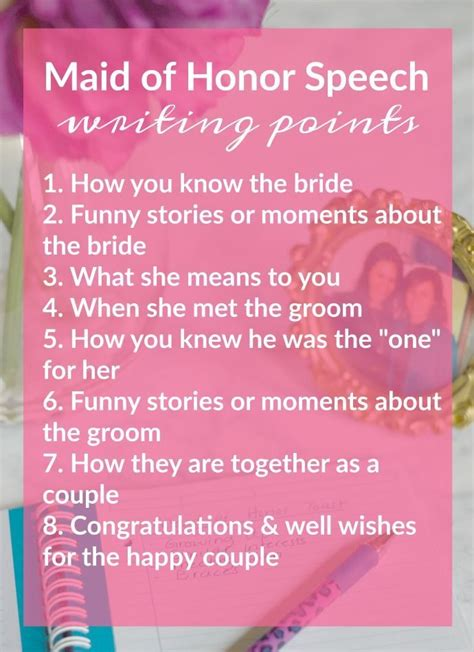 of honor speech template tips for writing presenting a moh speech bridal