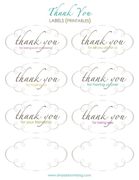 printable thank you label 4 best images of free printable thank you from label