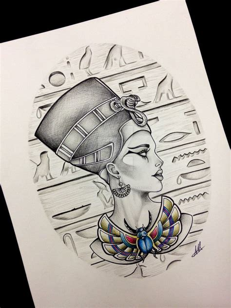 egyptian queen tattoos nefertiti design inspiration