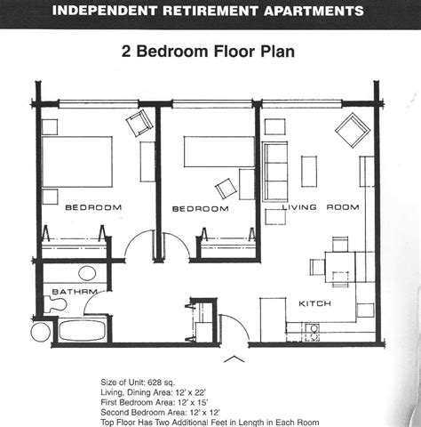 floor plan of a two bedroom flat add stairs more storage plus patio and or garage house