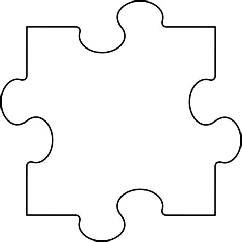 large puzzle piece template printable