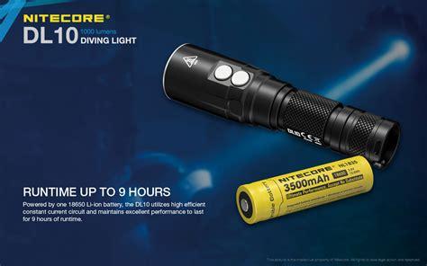 Nitecore Diving Light Senter Led Cree Xp L Hi V3 1000 Lumens Dl10 Nitecore Dl10 Led Dive Light
