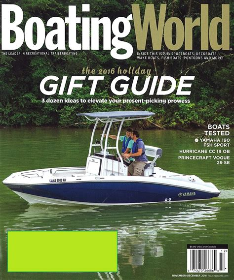 boating magazine cover price boating world magazine the leader in recreational