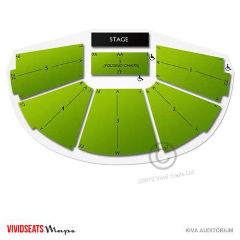 kiva auditorium seating chart kiva auditorium tickets kiva auditorium information