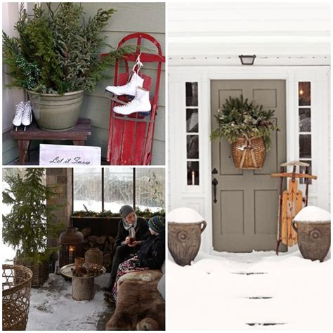 winter porch decorating ideas front porch winter large winter decor decorating pinterest