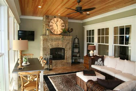 sunroom with fireplace sunroom traditional with brown
