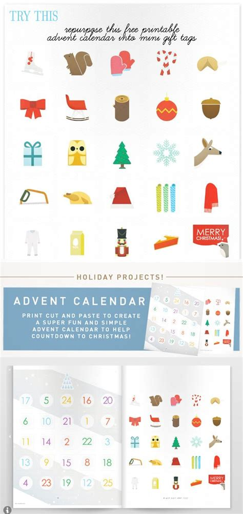 printable advent calendar for christmas free holiday printable from fawn forest via creature