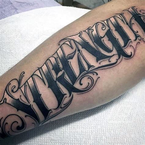tattoo designs letters for men 60 strength tattoos for masculine word design ideas