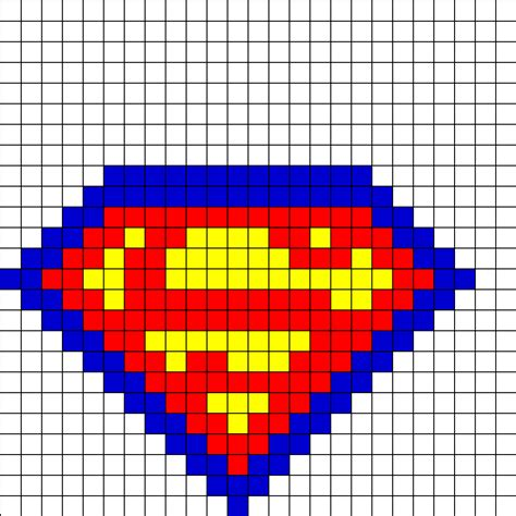 bead pattern ideas superman fusebead perler bead pattern bead sprites