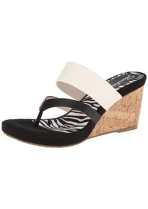 skechers cali s modiste animalistic wedge sandal