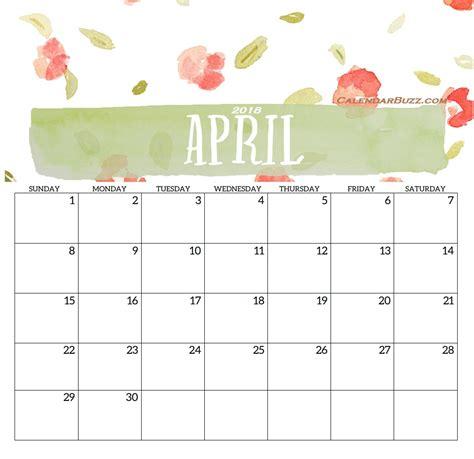 editable printable calendar april 2018 pagety com