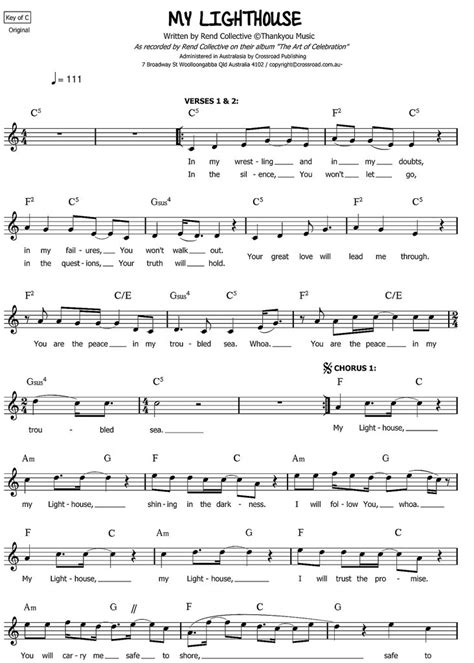 strumming pattern follow you into the dark my lighthouse rend collective sheet music pdf