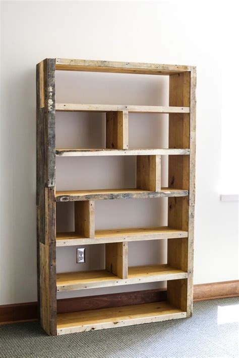 Recycled Bookshelf Ideas diy pallet bookcase made from recycled pallets pallets designs