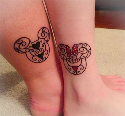 minnie and mickey tattoos 18th birth day ink disney