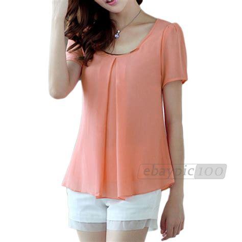 Blouse Lamoda Sw48 blusa gasa mangas cortas colores para mujer chica moda primavera moda decoracion y detalles