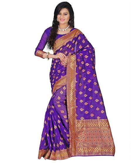 Azara Diskon azara lifestyle purple silk saree buy azara lifestyle