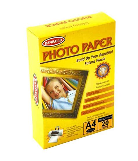 bambalio photo paper side matt coated glossy inkjet a4 size 50sheet 220gsm buy at