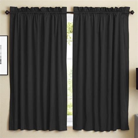 twill curtains blazing needles twill curtain panels in black set of 2