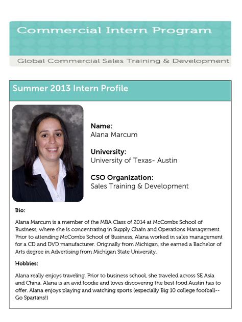 Ea Mba Intern by Alana Marcum Profile By Dell Talent Capabilities Issuu