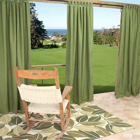 Outdoor Patio Curtains 45 Outdoor Patio Curtains 54quot X 96quot L Outdoor Tab Sheer Intended For Outdoor Curtain