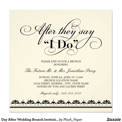 invitations for a wedding after day after wedding brunch invitation wedding vows wedding brunch invitations and wedding vows