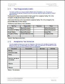 Factory Acceptance Test Plan Template by Test Responsibility Matrix Acceptance Test Plan Template