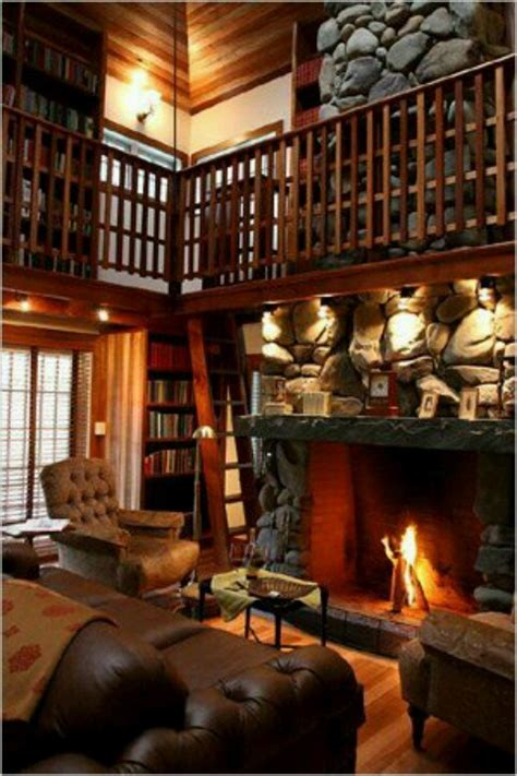 Library Fireplace by Cozy Library Living Room Around The House