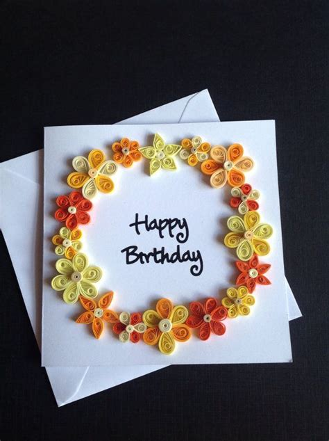 Greeting Card Using Quilling Paper - paper quilling flower greeting card quilling