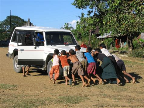 Is Pushing by File They Started Our Car By Pushing It Backwards Up The