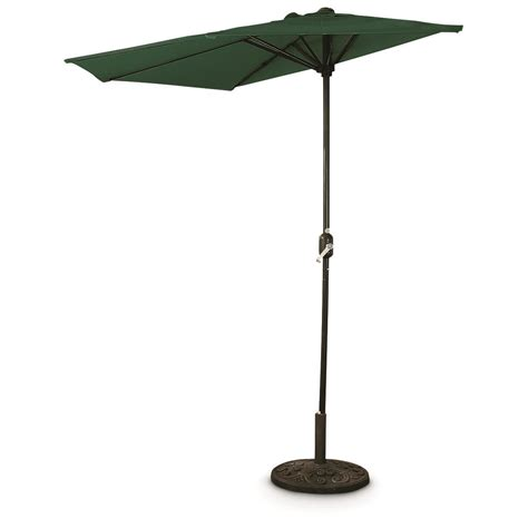 patio umbrella canada castlecreek 8 half round patio umbrella 235556 patio